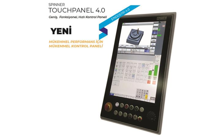 """Geniş, Fonksiyonel, Hızlı Kontrol Paneli 24"""" Multitouch Ekran, intelCore İ5-6300U 2.4Ghz işlemci ile destekleyen teknolojisi ile tüm SPINNER modellerde 2019 yılı başından itibaren müşteri talebine göre uygulanmaktadır. Sizde TOUCH PANEL 4.0 kullanarak mod"""